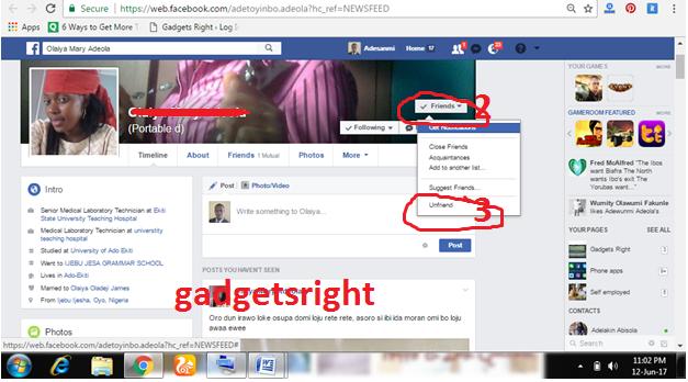 Unfriend Facebook Friends