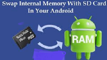 swap internal storage with external SD card in Android