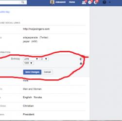 Change Birthday Facebook