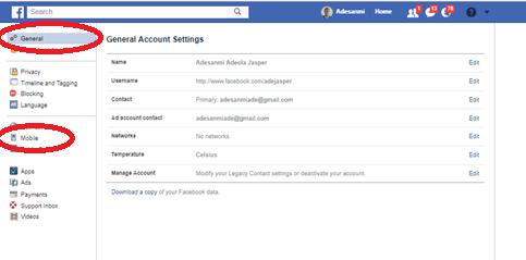 Number mobile facebook login How to