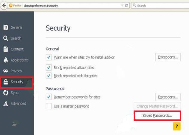 Saved Password On Firefox
