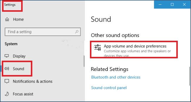 App Sound Outputs