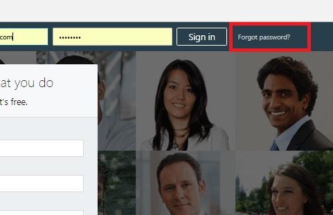 Forgotten Linkedin Password