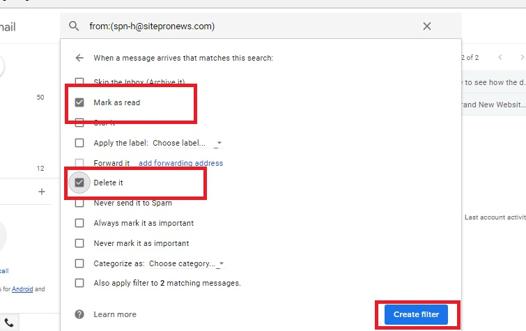 Block Messages from Annoying People in Gmail