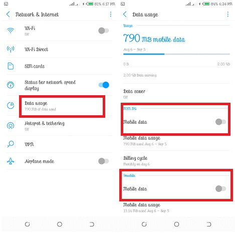 Switch Mobile Data on Tecno Phone