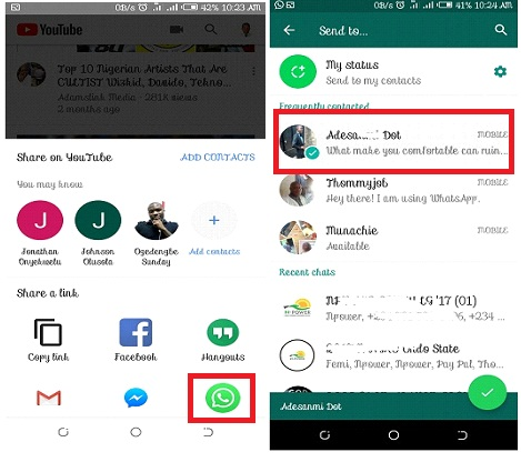 How to Share YouTube Videos in WhatsApp