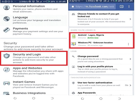 How to Log Out Facebook Account from All Device